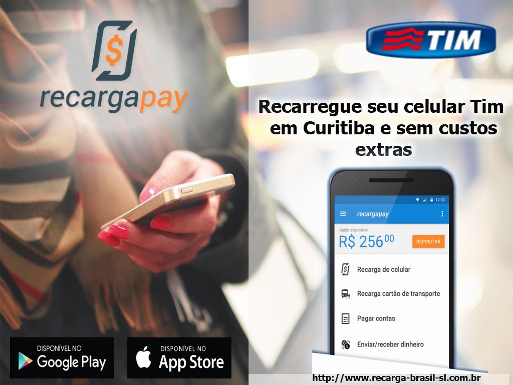 Recarregue seu celular Tim em Curitiba