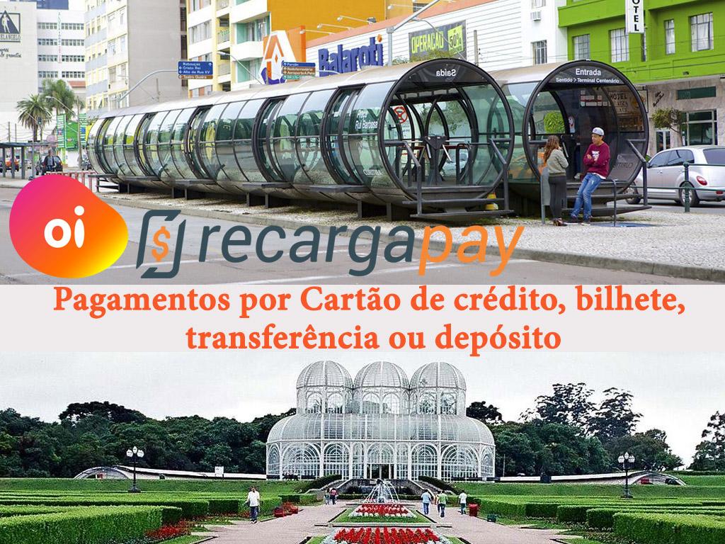 Pagamentos por cartão de crédito, bilhete, transferência ou depósito