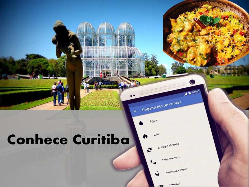 Conhece Curitiba e recarga teu saldo onde estes pelo celular