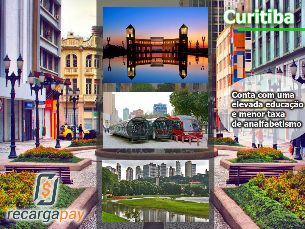 A cidade de Curitiba. Única cidade brasileira na lista das cidades mais bonitas