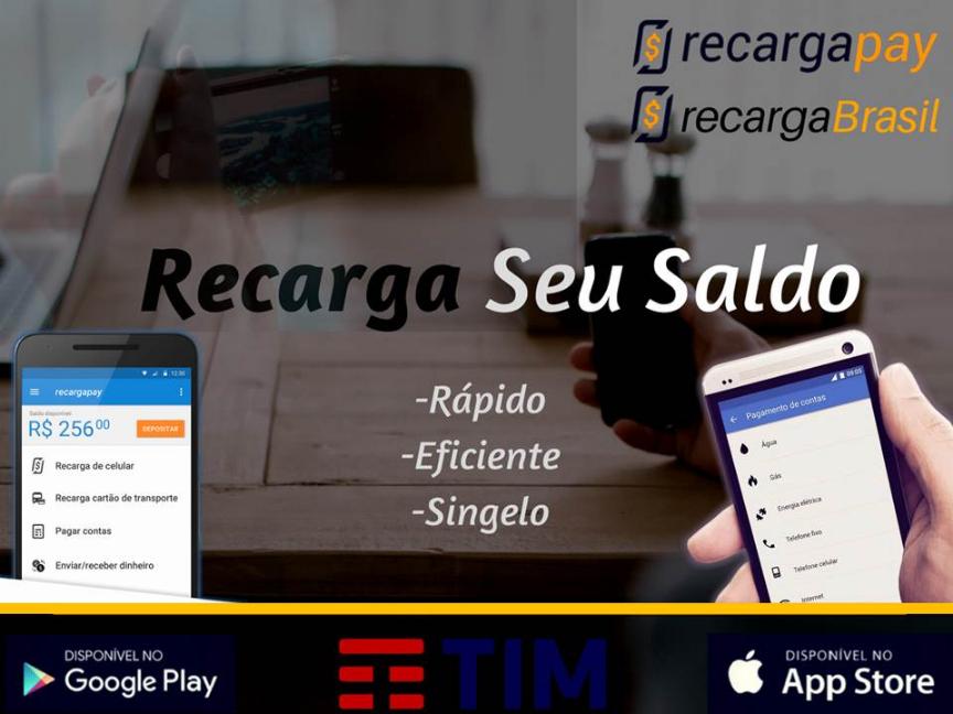 Com nossa app recarga rápido teu saldo de TIM pelo celular