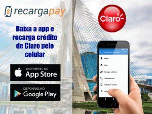 Recarga crédito de Claro pelo celular em São Paulo