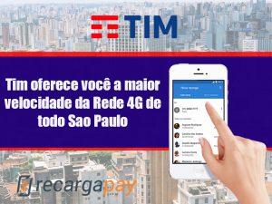 Tim oferece o melhor serviço de Telecomunicações de Brasil