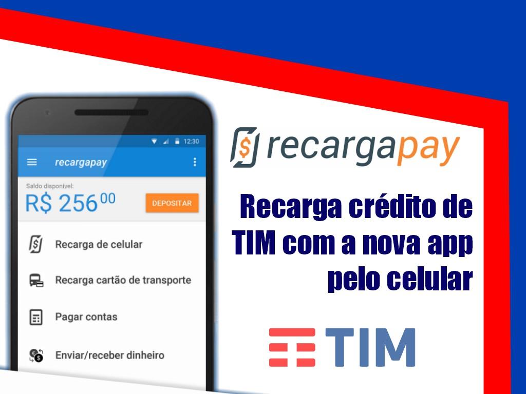 Recarga Tim pelo celular com nossa app