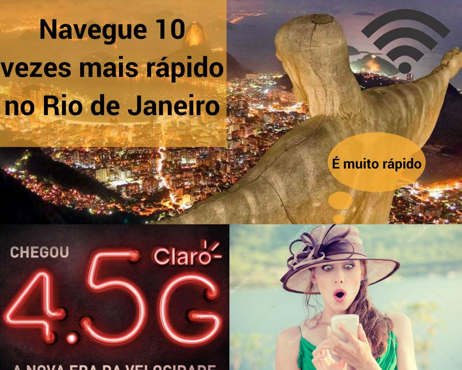 Junte-se ao 4.5G da Claro em RJ