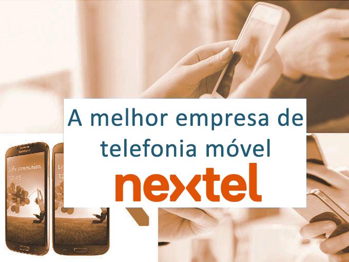 Nextel, o melhor serviço de telefone no Brasil