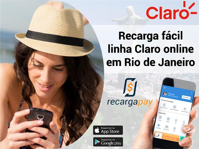 Recarga fácil linha Claro online em Rio de Janeiro