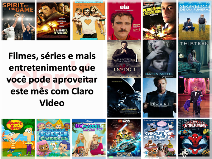 Filmes, séries e mais entretenimento Claro Video