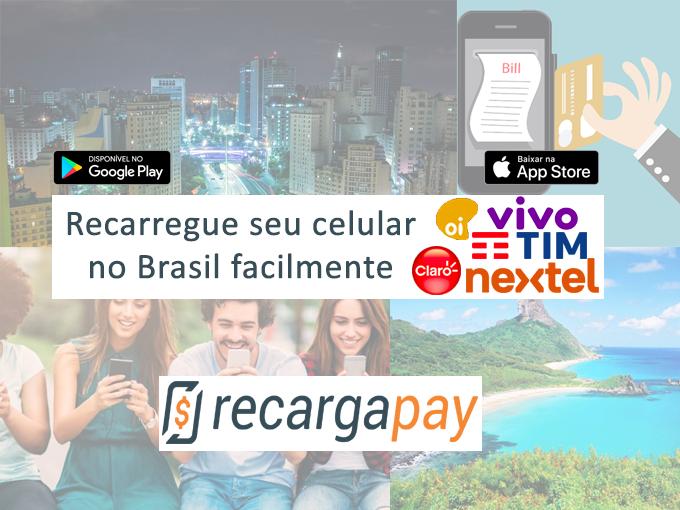 Faça a recarga do seu telefone com o Recargapay
