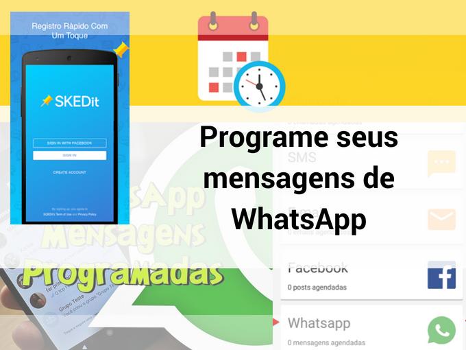 Programe seus mensagens de WhatsApp