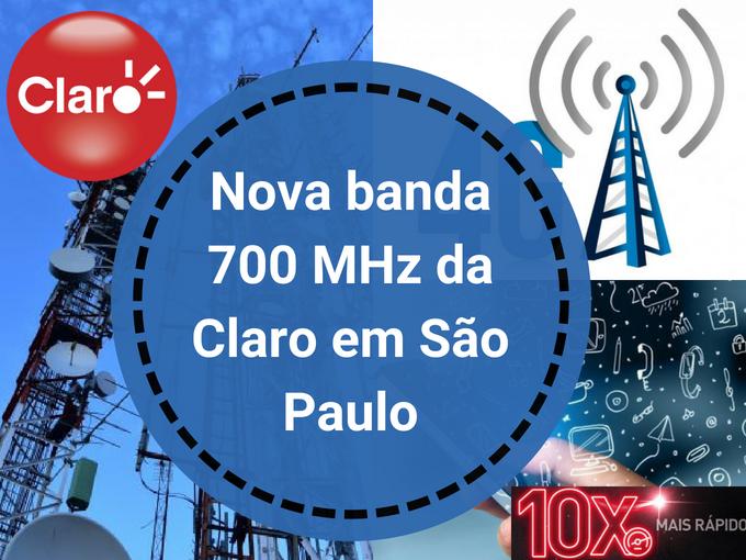 Banda de 700 MHz da Claro em SP