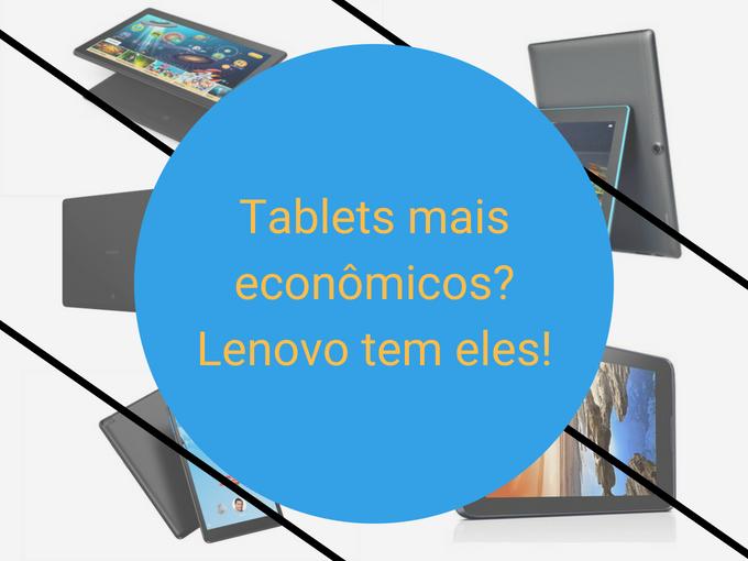 Conheça os detalhes dos novos tablets da Lenovo