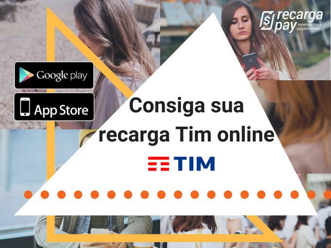 Consiga sua recarga Tim online