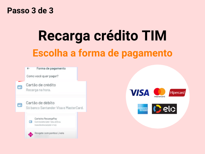 Escolha a forma de pagamento