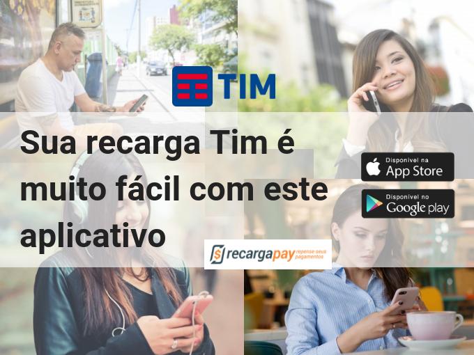 Recarga Tim com o aplicativo Recargapay