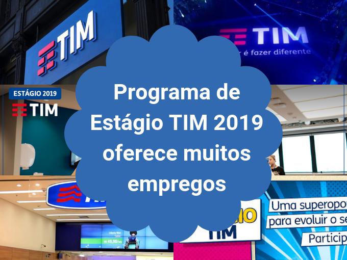 Programa Estágio 2019 da TIM