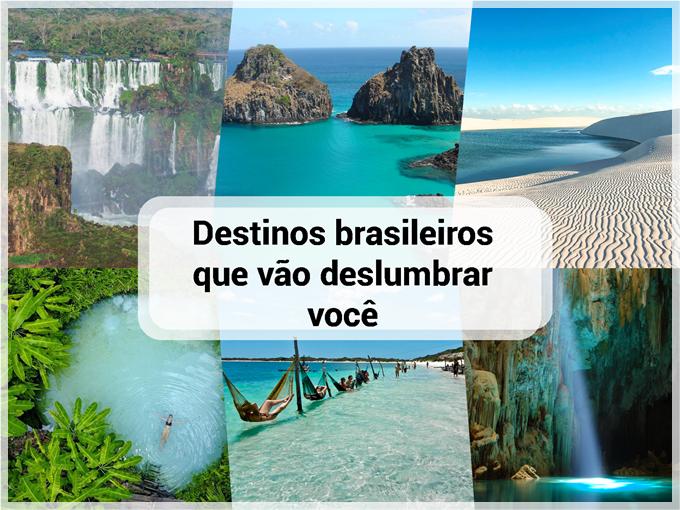 Destinos brasileiros que vão deslumbrar você