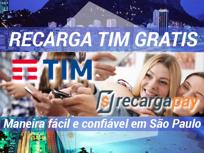 Recarga TIM gratis em São Paulo com RecargaPay