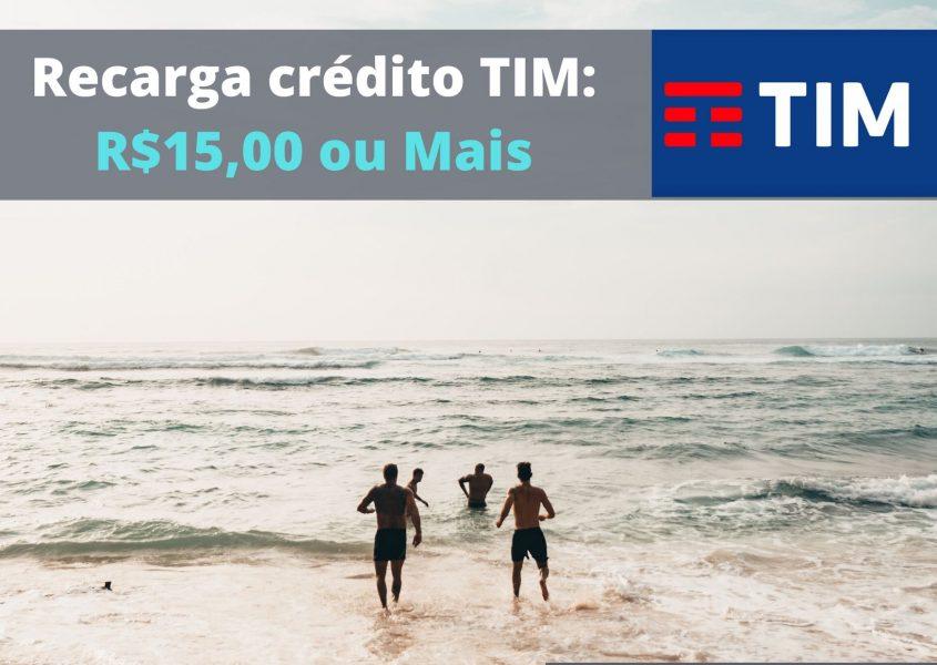 Recargar credito TIM 15 Reais