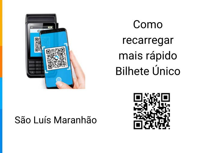 Como recarregar mais rápido Bilhete Único Bilhete Único no São Luís Maranhão