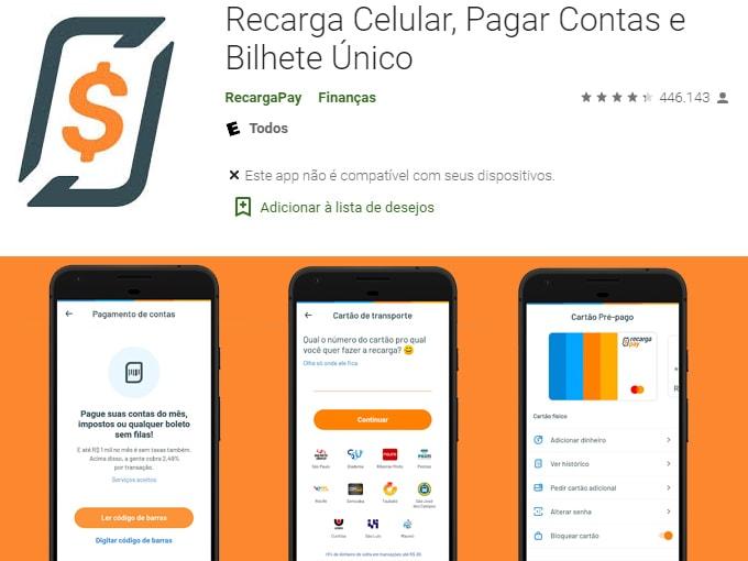 Recarregue URBS com RecargaPay