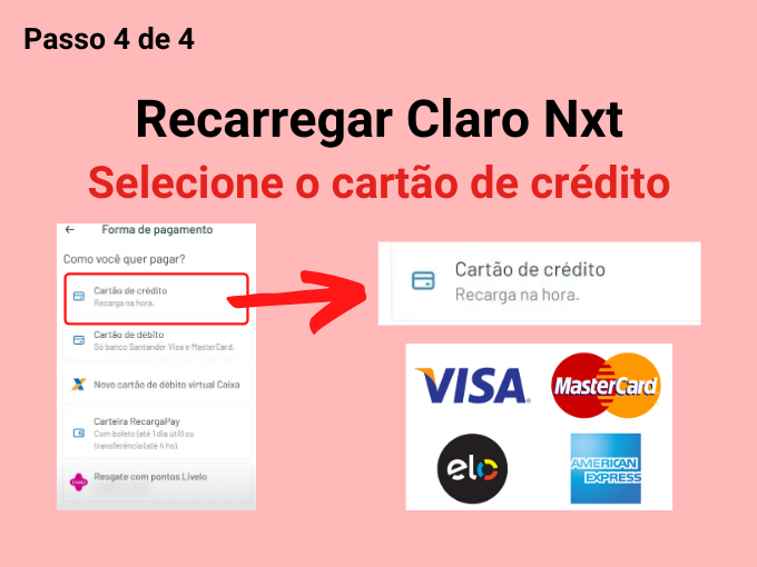 Escolha seu cartão de crédito