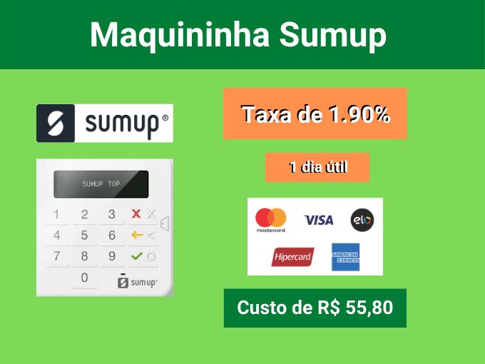 Maquininha Sumup com taxa de 1.90%