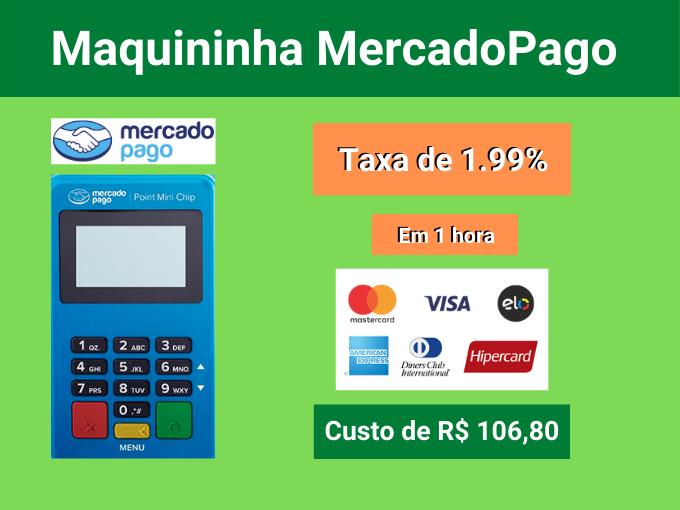 Maquininha MercadoPago com taxa de 1.99%