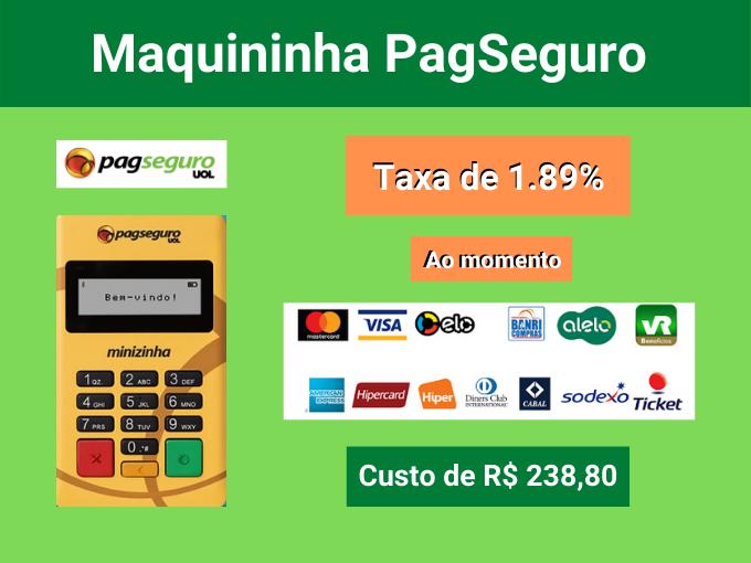 Maquininhas de cartão com menor taxa PagSeguro de 2.39%