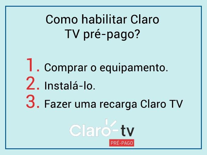Como habilitar Claro TV pré-pago?